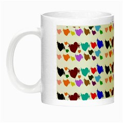 A Creative Colorful Background With Hearts Night Luminous Mugs