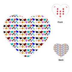 A Creative Colorful Background With Hearts Playing Cards (Heart)