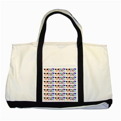 A Creative Colorful Background With Hearts Two Tone Tote Bag