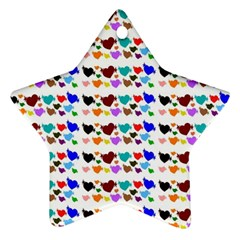 A Creative Colorful Background With Hearts Star Ornament (Two Sides)