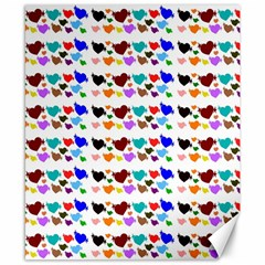 A Creative Colorful Background With Hearts Canvas 8  x 10