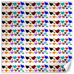 A Creative Colorful Background With Hearts Canvas 12  x 12