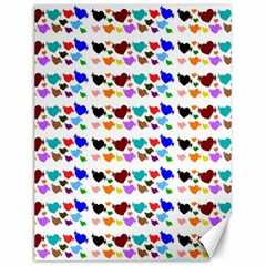 A Creative Colorful Background With Hearts Canvas 12  X 16