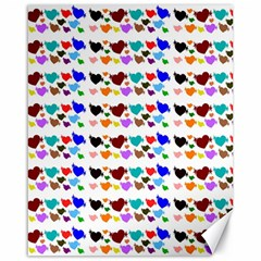 A Creative Colorful Background With Hearts Canvas 16  x 20