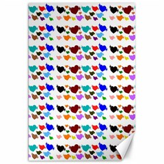 A Creative Colorful Background With Hearts Canvas 20  x 30