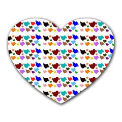 A Creative Colorful Background With Hearts Heart Mousepads