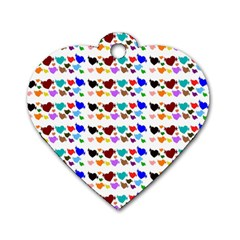 A Creative Colorful Background With Hearts Dog Tag Heart (Two Sides)