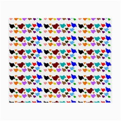 A Creative Colorful Background With Hearts Small Glasses Cloth (2 Side)