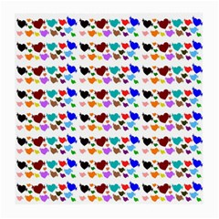 A Creative Colorful Background With Hearts Medium Glasses Cloth