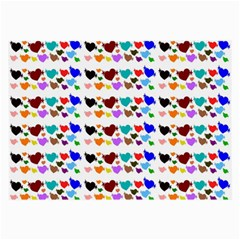 A Creative Colorful Background With Hearts Large Glasses Cloth (2-Side)