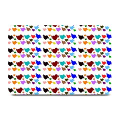 A Creative Colorful Background With Hearts Plate Mats