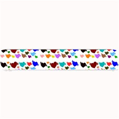 A Creative Colorful Background With Hearts Small Bar Mats