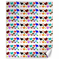 A Creative Colorful Background With Hearts Canvas 11  x 14