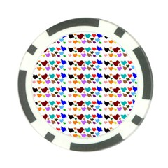 A Creative Colorful Background With Hearts Poker Chip Card Guard