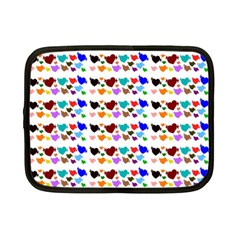 A Creative Colorful Background With Hearts Netbook Case (small)