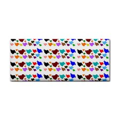A Creative Colorful Background With Hearts Cosmetic Storage Cases