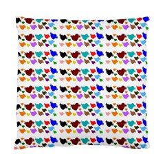 A Creative Colorful Background With Hearts Standard Cushion Case (Two Sides)