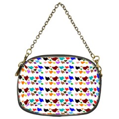 A Creative Colorful Background With Hearts Chain Purses (Two Sides)