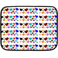 A Creative Colorful Background With Hearts Double Sided Fleece Blanket (Mini)