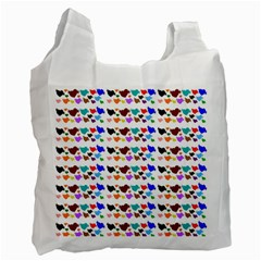 A Creative Colorful Background With Hearts Recycle Bag (Two Side)