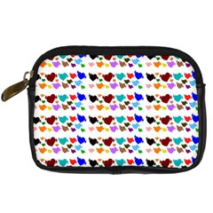 A Creative Colorful Background With Hearts Digital Camera Cases