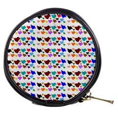 A Creative Colorful Background With Hearts Mini Makeup Bags