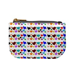 A Creative Colorful Background With Hearts Mini Coin Purses