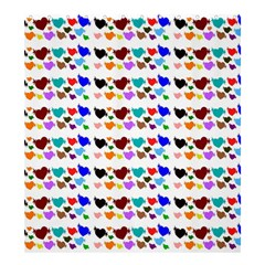 A Creative Colorful Background With Hearts Shower Curtain 66  X 72  (large)