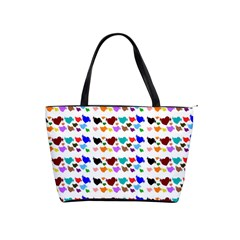 A Creative Colorful Background With Hearts Shoulder Handbags