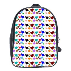 A Creative Colorful Background With Hearts School Bags(Large)