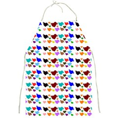A Creative Colorful Background With Hearts Full Print Aprons