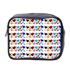 A Creative Colorful Background With Hearts Mini Toiletries Bag 2 Side