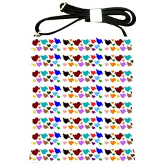 A Creative Colorful Background With Hearts Shoulder Sling Bags