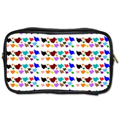 A Creative Colorful Background With Hearts Toiletries Bags 2-Side