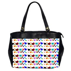 A Creative Colorful Background With Hearts Office Handbags (2 Sides)
