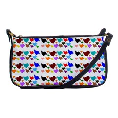 A Creative Colorful Background With Hearts Shoulder Clutch Bags