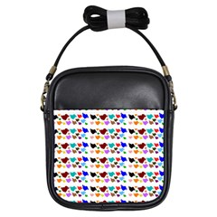 A Creative Colorful Background With Hearts Girls Sling Bags