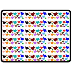 A Creative Colorful Background With Hearts Fleece Blanket (large)