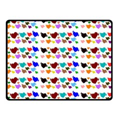 A Creative Colorful Background With Hearts Fleece Blanket (Small)
