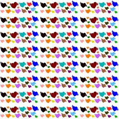 A Creative Colorful Background With Hearts Magic Photo Cubes