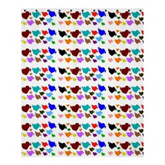 A Creative Colorful Background With Hearts Shower Curtain 60  X 72  (medium)