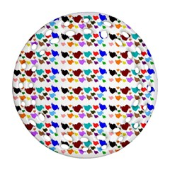 A Creative Colorful Background With Hearts Ornament (Round Filigree)