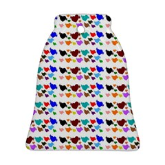 A Creative Colorful Background With Hearts Bell Ornament (Two Sides)