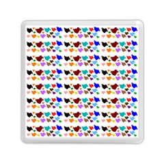 A Creative Colorful Background With Hearts Memory Card Reader (Square)