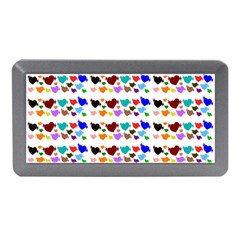 A Creative Colorful Background With Hearts Memory Card Reader (Mini)