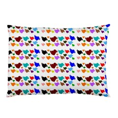 A Creative Colorful Background With Hearts Pillow Case (Two Sides)