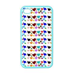 A Creative Colorful Background With Hearts Apple iPhone 4 Case (Color)