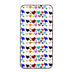 A Creative Colorful Background With Hearts Apple iPhone 4/4s Seamless Case (Black)