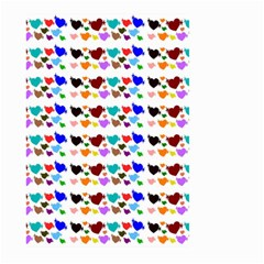 A Creative Colorful Background With Hearts Large Garden Flag (Two Sides)