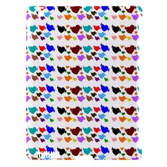 A Creative Colorful Background With Hearts Apple iPad 3/4 Hardshell Case (Compatible with Smart Cover)